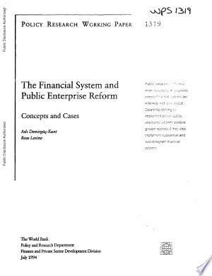 Download The Financial System and Public Enterprise Reform PDF