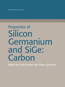Properties of Silicon Germanium and SiGe
