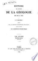 Histoire des progres de la geologie de 1834 a 1859 par le vicomte d'Archiac
