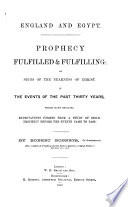 Prophecy Fulfilled   Fulfilling  Or  Signs of the Nearness of Christ in the Events of the Past Thirty Years