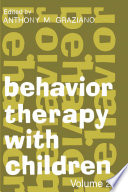 Behavior Therapy with Children II