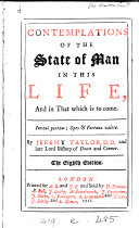 Contemplations of the state of man in this life, and in that which is to come [an adaptation of J.E. Nieremberg's De la diferencia entre lo temporal y eterno].