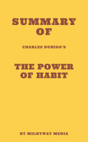 Pdf Summary of Charles Duhigg's The Power of Habit Telecharger