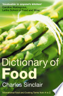 Dictionary of Food Book