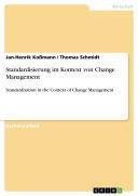 Standardisierung im Kontext von Change Management