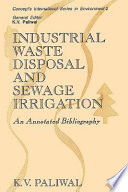 Industrial Waste Disposal And Sewage Irrigation