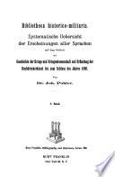 Bibliotheca historico-militaris