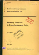 Dosimetry Techniques in Thermoluminescence Dating