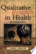 Qualitative Research in Health