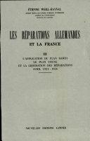 Pdf Les Reparations Allemandes Et la France Iii (avril 1924-1936) Telecharger