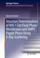 Pdf Structure Determination of HIV-1 Tat/Fluid Phase Membranes and DMPC Ripple Phase Using X-Ray Scattering Telecharger