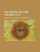 The Postal Record Volume 15 16