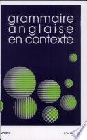 Grammaire anglaise en contexte