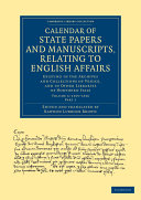 Pdf Calendar of State Papers and Manuscripts, Relating to English Affairs