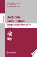 Electronic Participation
