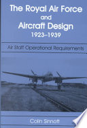 The RAF and Aircraft Design, 1923-1939