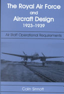 The RAF and Aircraft Design  1923 1939