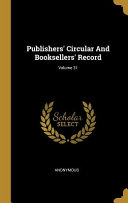 Publishers Circular And Booksellers Record