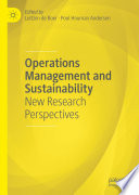 Operations Management and Sustainability Book