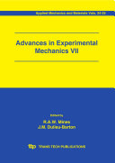 Advances in Experimental Mechanics VII [Pdf/ePub] eBook