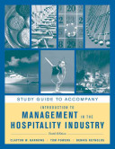Study Guide to accompany Introduction to Management in the Hospitality Industry  10e