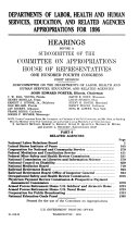 Departments of Labor  Health and Human Services  Education  and Related Agencies Appropriations for 1996  Related agencies