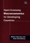 Open economy Macroeconomics for Developing Countries