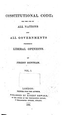 Constitutional Code for the Use of All Nations and All Governments Professing Liberal Opinions