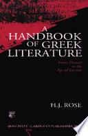 A Handbook Of Greek Literature