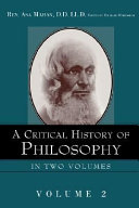 A Critical History of Philosophy
