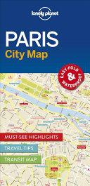 Lonely Planet Paris City Map