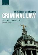 Smith  Hogan  and Ormerod s Criminal Law