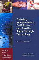 Fostering Independence, Participation, and Healthy Aging Through Technology ebook