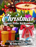 Christmas Mosaic Color By Number Coloring Books for Adults