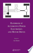 Handbook Of Automotive Power Electronics And Motor Drives Book PDF