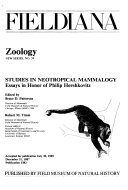 Studies in Neotropical Mammalogy