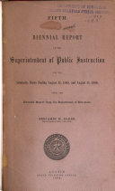 Biennial Report of the State Superintendent of Public Instruction for