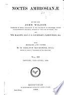 Noctes Ambrosian   Book