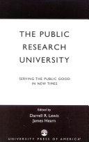 The Public Research University Book PDF