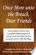 Once More Unto The Breach Dear Friends