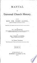 Manual of Universal Church History Book PDF