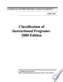 Classification Of Instructional Programs 2000 Edition