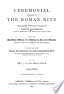 Ceremonial According to the Roman Rite