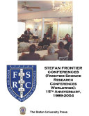 Stefan Frontier Conferences  Frontier Science Research Conferences Worldwide   15th Anniversary  1989 2004