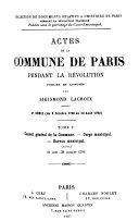 Actes de la Commune de Paris pendant la révolution. 2. sér