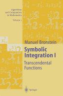 Symbolic Integration I [Pdf/ePub] eBook