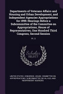 Departments of Veterans Affairs and Housing and Urban Development  and Independent Agencies Appropriations for 1995  Hearings Before a Subcommittee of