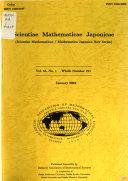 Scientiae Mathematicae Japonicae Book PDF