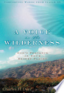 A Voice In The Wilderness Book