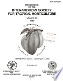 Proceedings of the Interamerican Society for Tropical Horticulture
